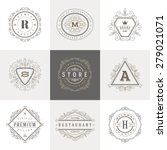 monogram logo template with... | Shutterstock .eps vector #279021071