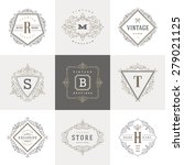 monogram logo template with... | Shutterstock .eps vector #279021125