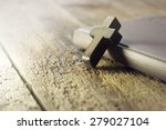 Closeup Of Simple Wooden...