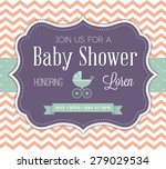 baby shower invitation | Shutterstock .eps vector #279029534