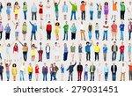 multiethnic casual people... | Shutterstock . vector #279031451
