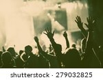 crowd at concert   retro style... | Shutterstock . vector #279032825