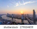bangkok cityscape  business... | Shutterstock . vector #279034859