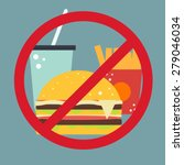 vector food icon. no fast food.  | Shutterstock .eps vector #279046034
