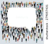 a large group of people in... | Shutterstock .eps vector #279057431