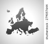 map of europe | Shutterstock .eps vector #279057644