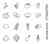 set of vegetable icons vector... | Shutterstock .eps vector #279063704