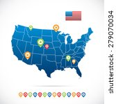 usa map with icons | Shutterstock .eps vector #279070034