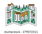 thin line flat design of street ... | Shutterstock .eps vector #279072311