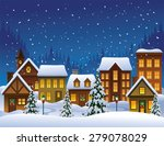 christmas village | Shutterstock .eps vector #279078029