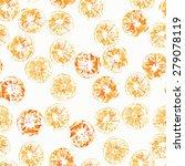isolated orange stamps ... | Shutterstock .eps vector #279078119