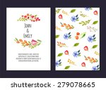 wedding invitation card with... | Shutterstock .eps vector #279078665