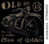 rustic old boy vintage tee... | Shutterstock .eps vector #279080405