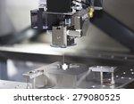 cnc wire cut machine cutting... | Shutterstock . vector #279080525