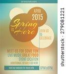 live music festival spring... | Shutterstock .eps vector #279081221