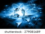 best internet concept of global ... | Shutterstock . vector #279081689