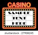 advertising casino background... | Shutterstock .eps vector #27908245