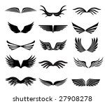 vector collection of wings for... | Shutterstock .eps vector #27908278