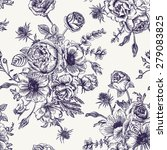 seamless floral pattern with... | Shutterstock .eps vector #279083825