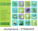 Set Of Colorful Modern Ecology...