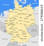 germany map | Shutterstock . vector #279088619