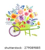 gardening. wheelbarrow with... | Shutterstock . vector #279089885