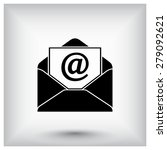 mail sign icon  vector... | Shutterstock .eps vector #279092621