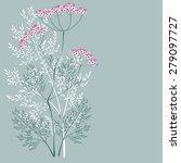valerian  a flowering meadow... | Shutterstock .eps vector #279097727