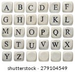 alphabet letters on wooden... | Shutterstock . vector #279104549