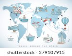 travel set. icons collection on ... | Shutterstock .eps vector #279107915