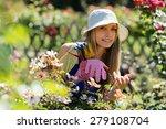 happy young female  in uniform... | Shutterstock . vector #279108704