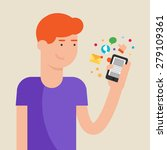 vector illustration of a man... | Shutterstock .eps vector #279109361