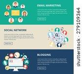 social networks and internet... | Shutterstock .eps vector #279109364