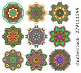 circle lace ornament  round... | Shutterstock . vector #279111299