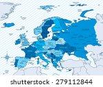 vector illustration of europe... | Shutterstock .eps vector #279112844
