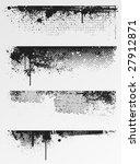 four grunge edges for your... | Shutterstock .eps vector #27912871