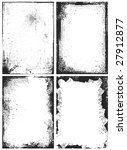 four grunge frames for your... | Shutterstock .eps vector #27912877