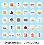 food  kitchen appliances and... | Shutterstock .eps vector #279129959