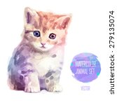 vector set of animals. cat hand ... | Shutterstock .eps vector #279135074