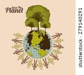 eco planet design over pastel... | Shutterstock .eps vector #279140291