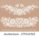 white lace clip art. | Shutterstock .eps vector #279141965