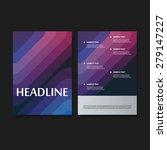 flyer or cover design set for... | Shutterstock .eps vector #279147227