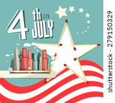 vector 4 th july title with... | Shutterstock .eps vector #279150329
