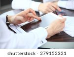 close up image of an office... | Shutterstock . vector #279152321