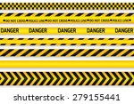 yellow with black police line... | Shutterstock .eps vector #279155441