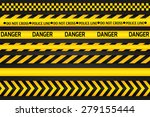 yellow with black police line... | Shutterstock .eps vector #279155444