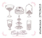 set of candy bar objects.... | Shutterstock .eps vector #279156215
