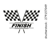 the race flag icon. finish... | Shutterstock .eps vector #279157049