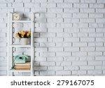 shelf with interior decoration... | Shutterstock . vector #279167075