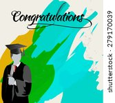 graduate with certificate with... | Shutterstock .eps vector #279170039